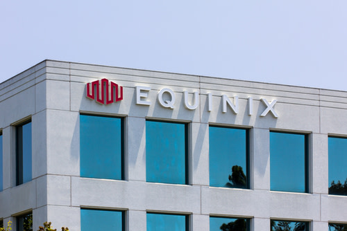Equinix Logo on building