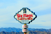 Six flags amusement park Company logo