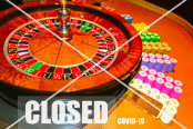Conceptual image about casino closed stop sign