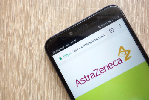 Astrazeneca Logo On Phone