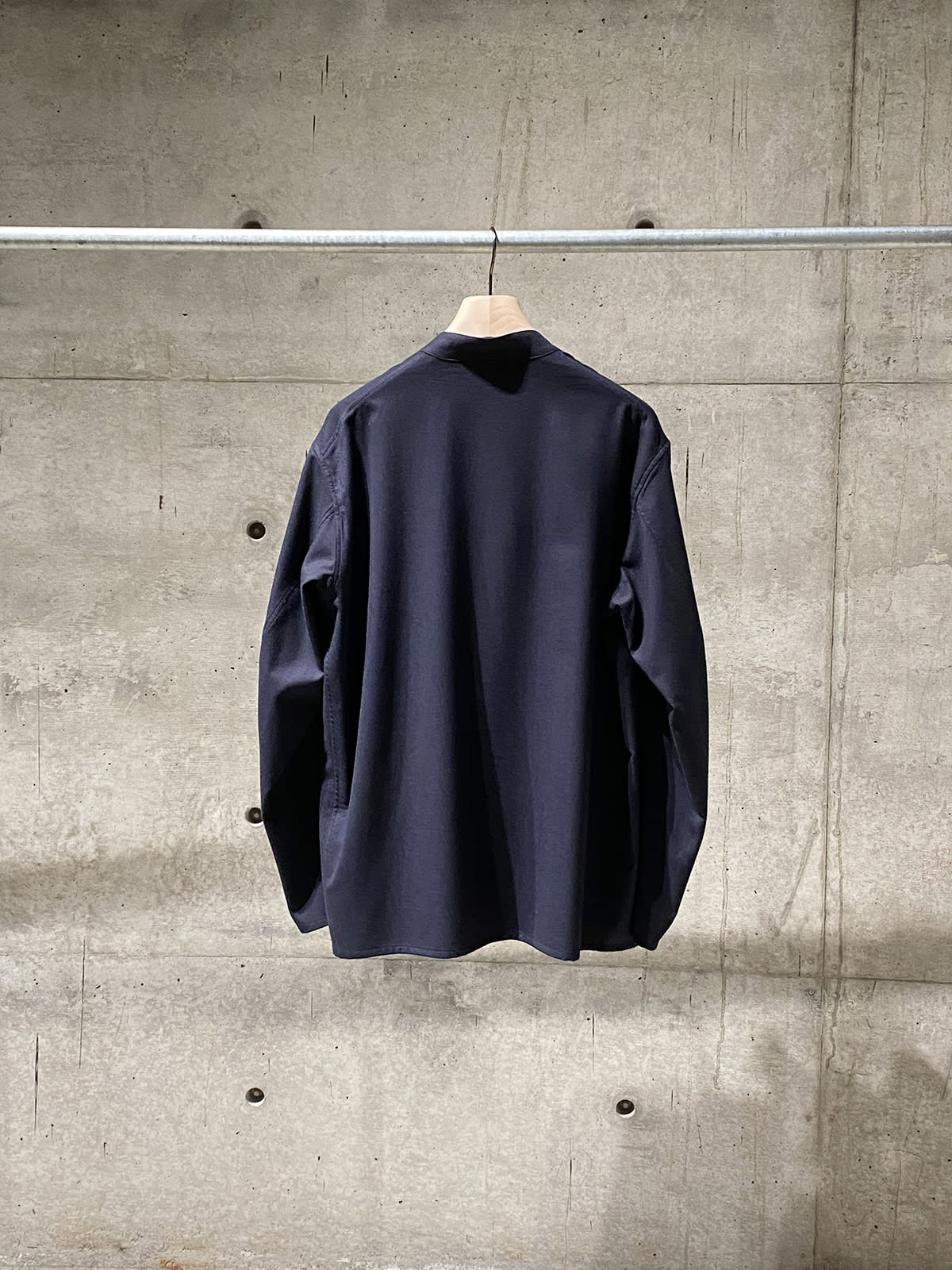 wool flannel stand collar jacket 02