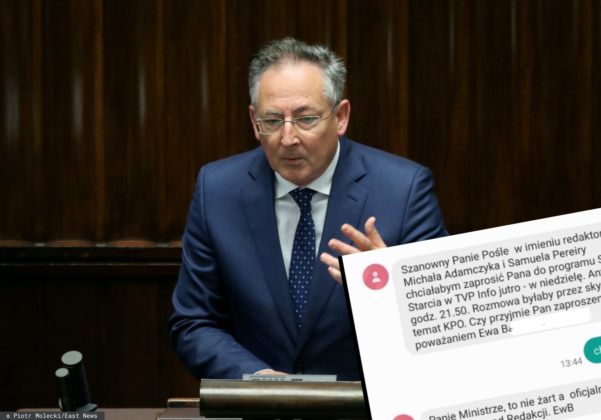 Bartłomiej Sienkieiwcz w rozmowie z TVP