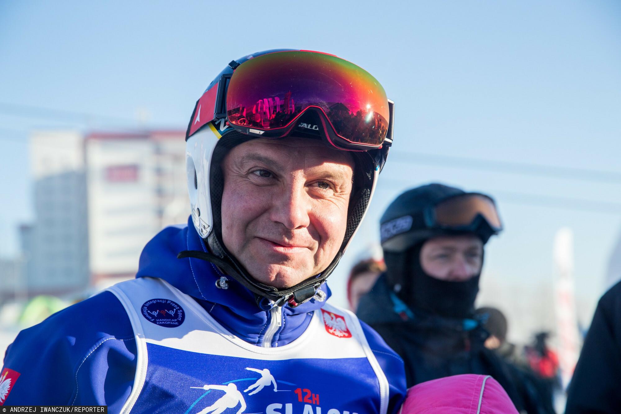 Andrzej Duda odwiedził Zakopane, by wziąć udział w zawodach narciarskich.