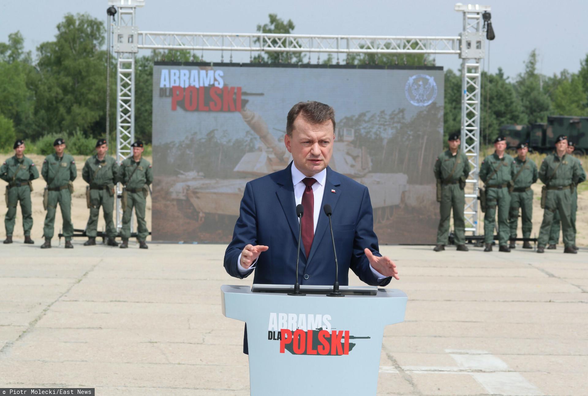 Mariusz Błaszczak zapowiedział rozstawianie czołgów Abrams na Bramie Smoleńskiej, która jest na granicy Rosji i Białorusi