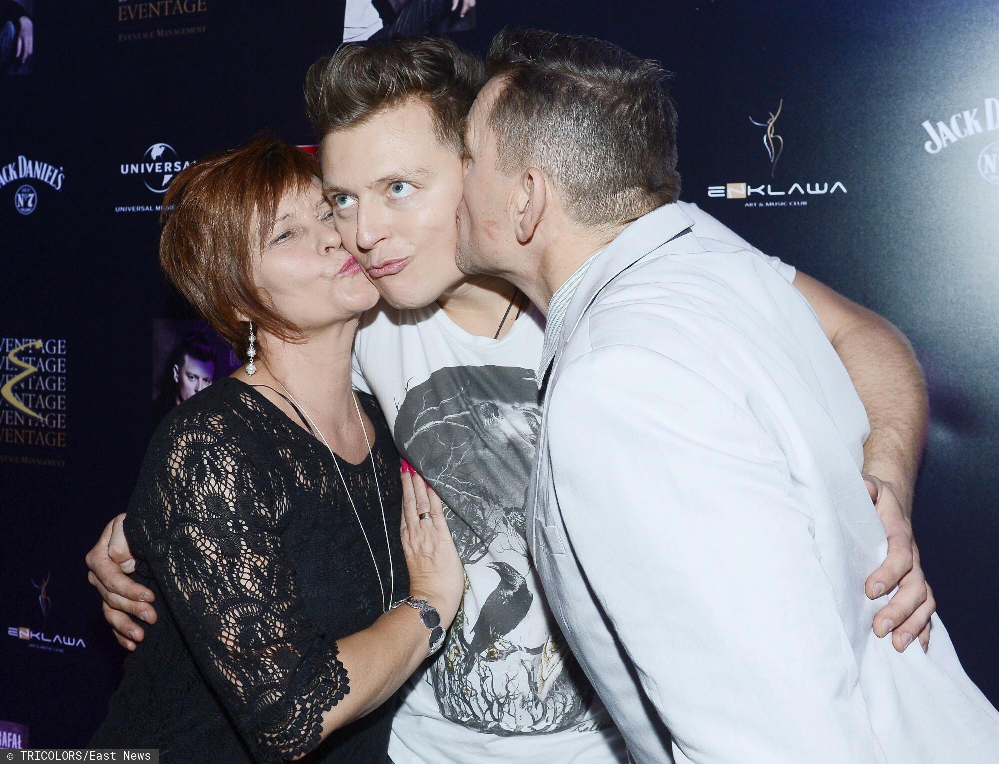 Rafał Brzozowski z rodzicami