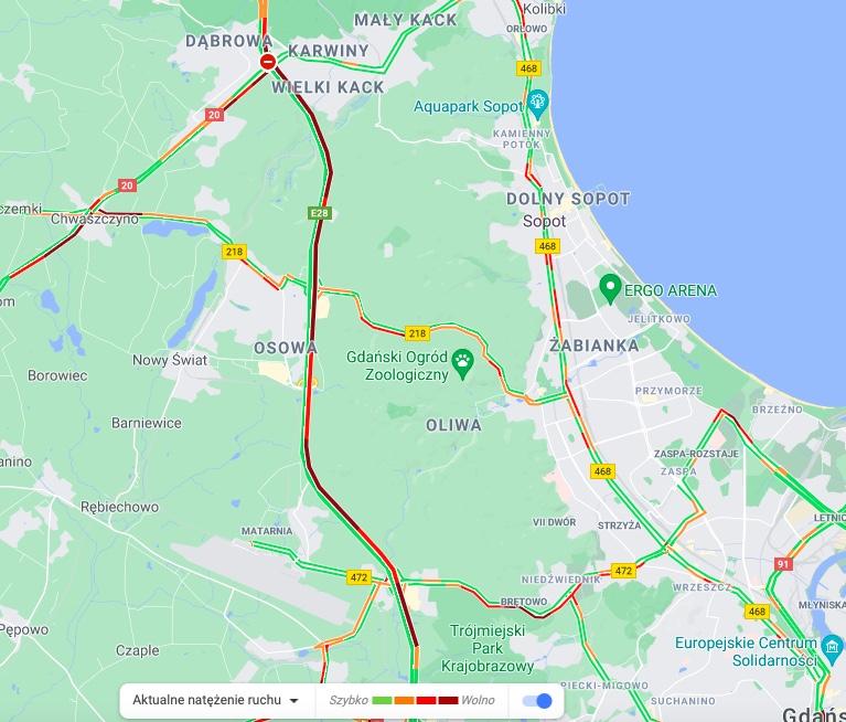 Korki w Gdyni. Zamknięto Estakadę Kwiatkowskiego