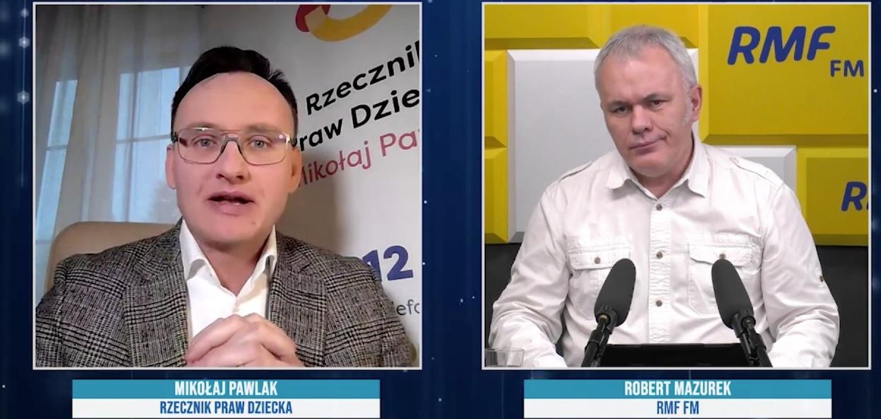 Robert Mazurek przepytywał dziś rzecznika praw dziecka