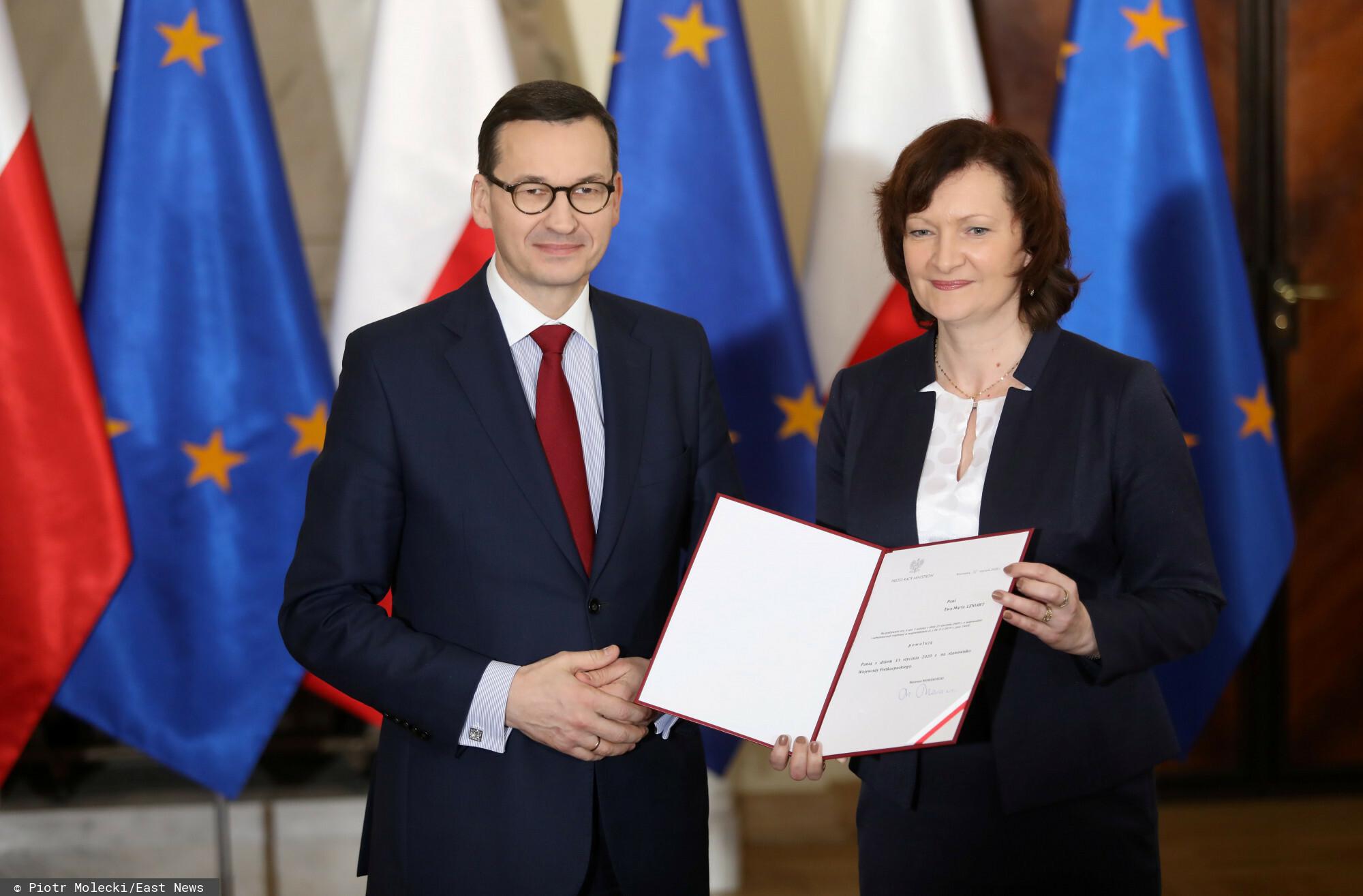 Ewa Leniart pod sztabem wyborczym