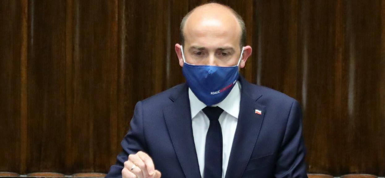 Borys Budka w Sejmie krytykowałLewicę za poparcie Krajowego Planu Odbudowy.