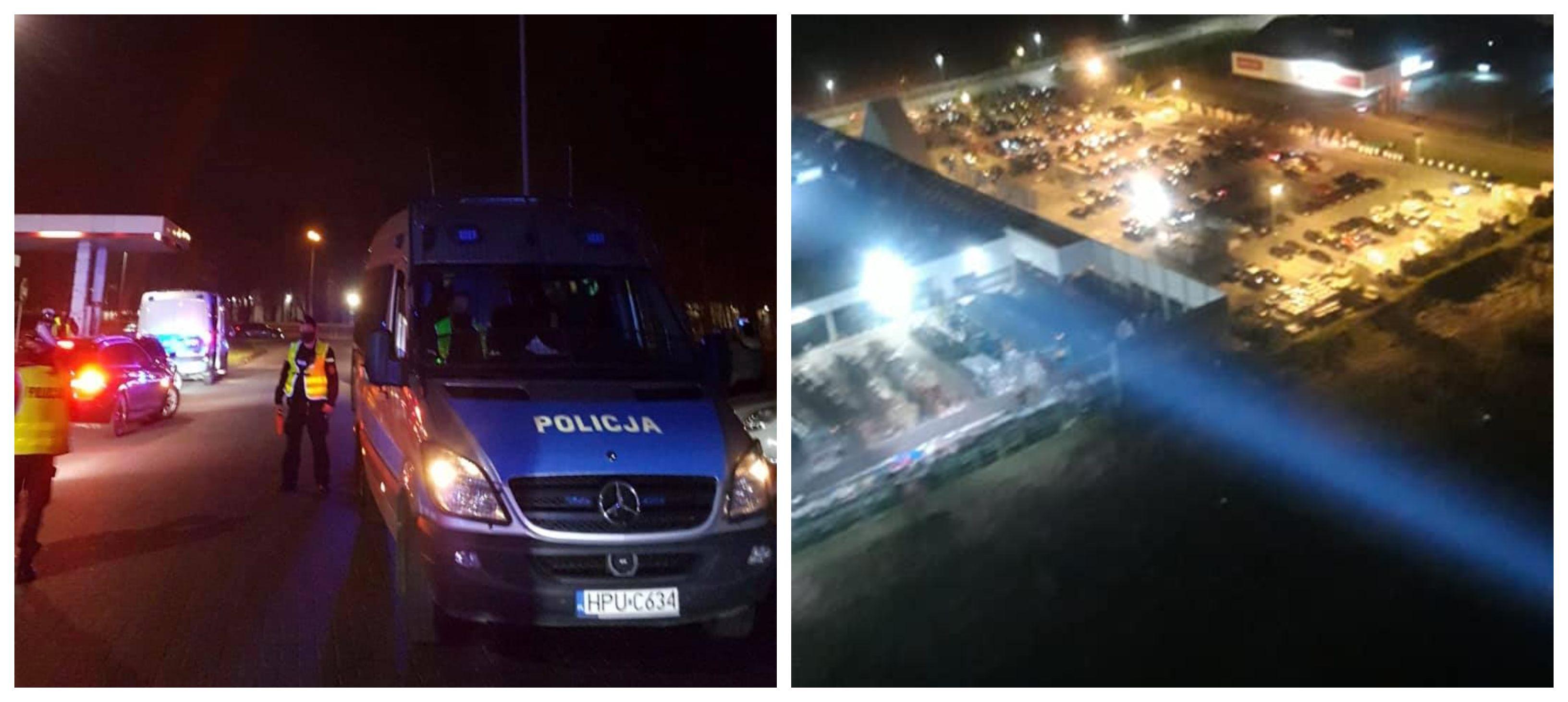 Policja na zlocie w Poznaniu