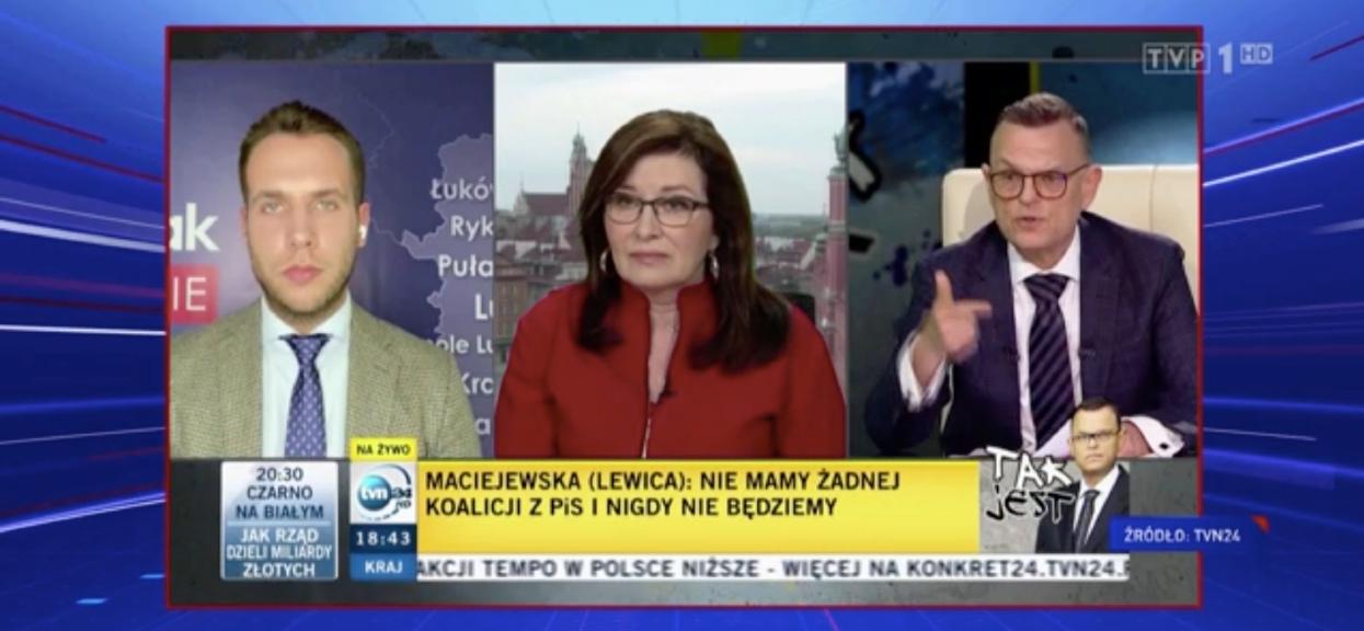 """Wywiad Morozowskiego """"Wiadomości"""" TVP przywołały jako przykład faworyzowania Koalicji Obywatelskiej przez część mediów."""