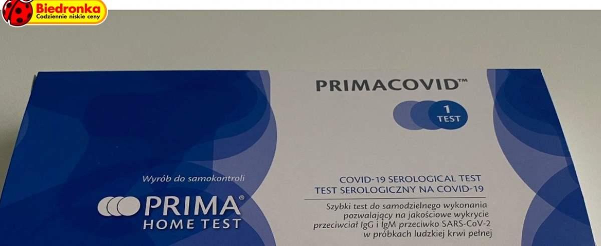 Klienci błyskawicznie wykupili testy na COVID-19 oferowane przez sieć Biedronka