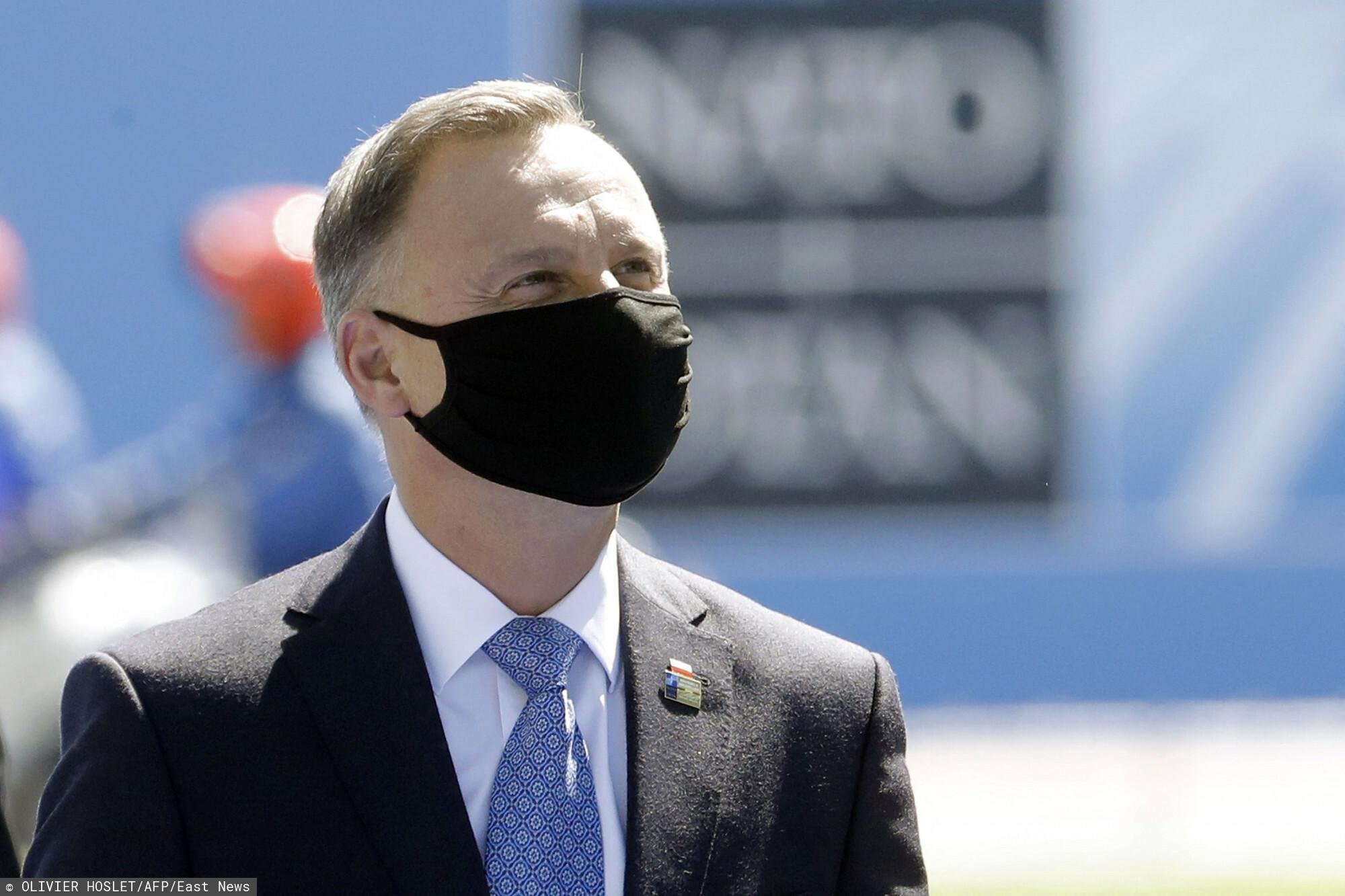 OLIVIER HOSLET/AFP/East News - Andrzej Duda na szczycie NATO