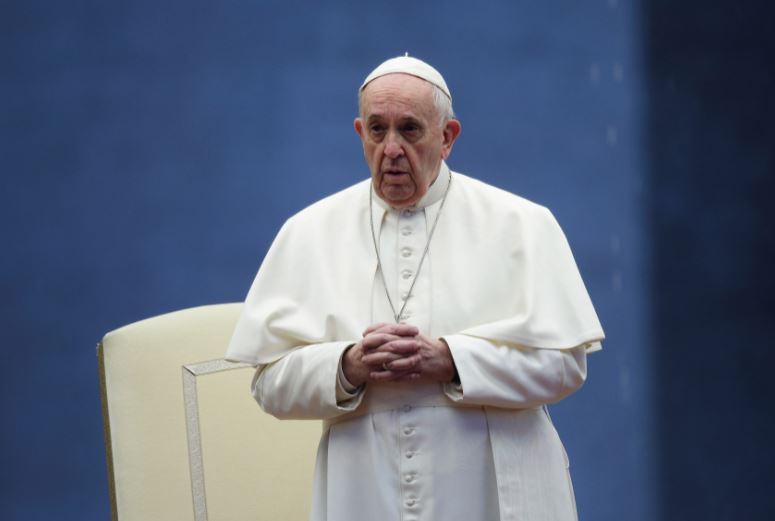 Pope Francis visits Palo Cathedral in one of his sorties in Leyte Province Saturday, January 17, 2015.