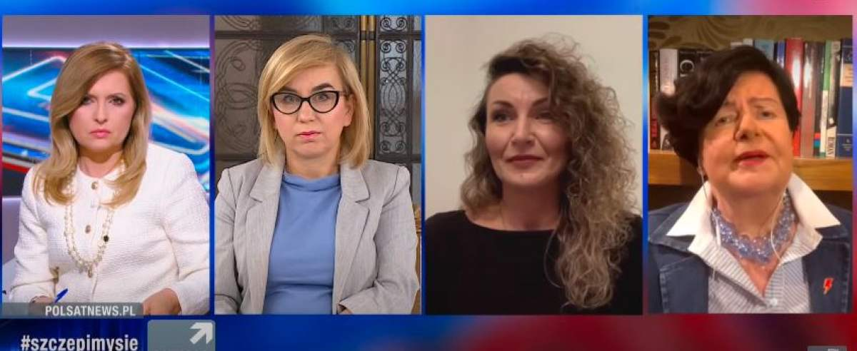 "Joanna Senyszyn, Monika Pawłowska i Paulina Hennig-Kloska w ""Debacie Dnia""."