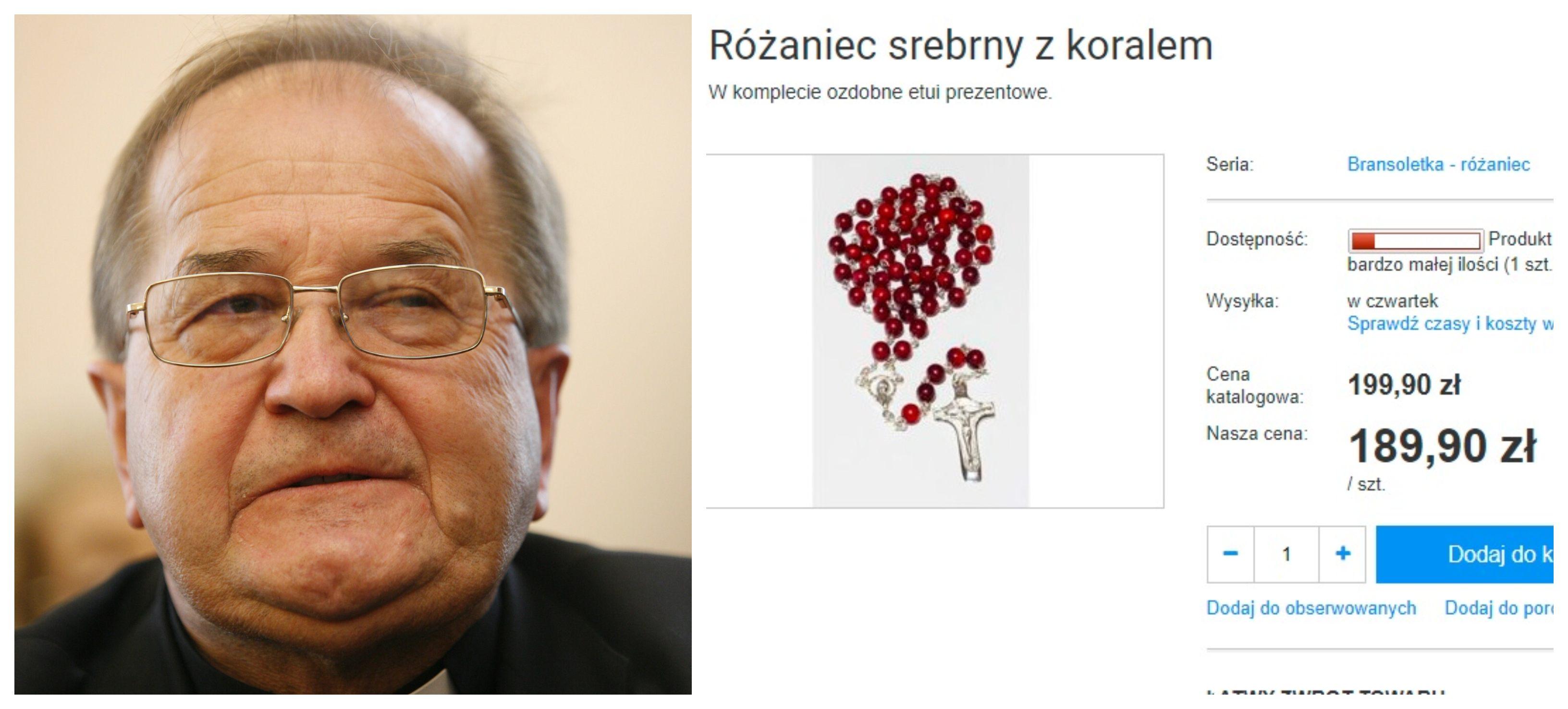 Pamiątki ze sklepu Tadeusza Rydzyka