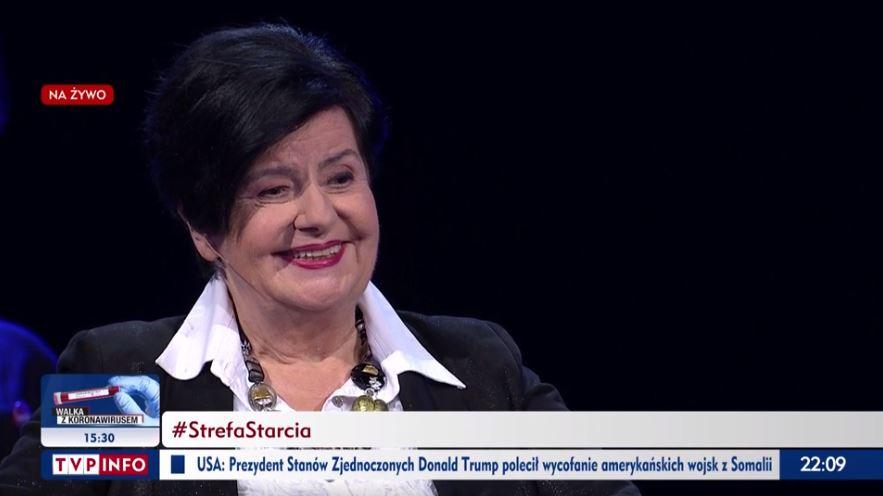 """Na antenie TVP Info doszło do wymiany """"uprzejmości"""" między Joanną Senyszyn a DominikiemTarczyńskim."""