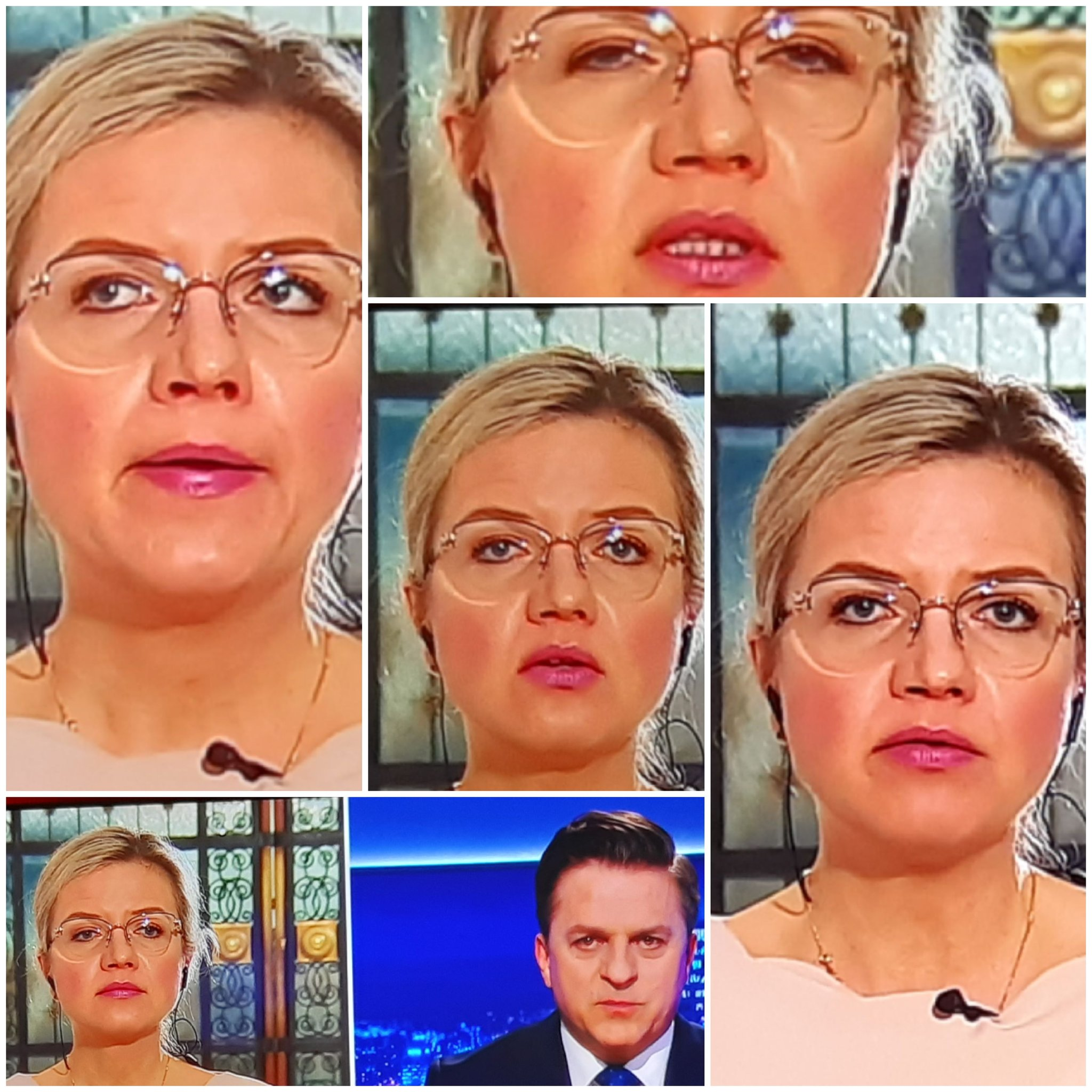 """Małgorzata Wassermann w """"Gościu Wydarzeń""""."""