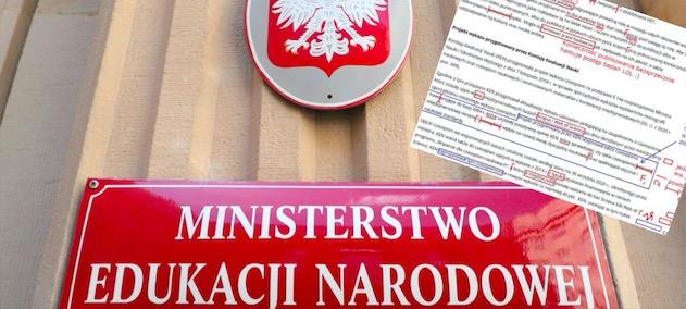 Językoznawca poprawił pismo autorstwa Ministerstwa Edukacji i Nauki