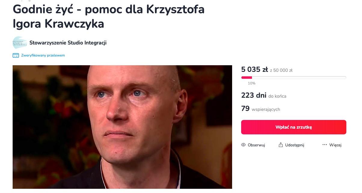 Zrzutka na rzecz syna Krzysztofa Krawczyka