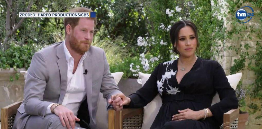 TVN 24 przeprowadził retransmisję wywiadu Meghan i Harry'ego u Oprah Winfrey.