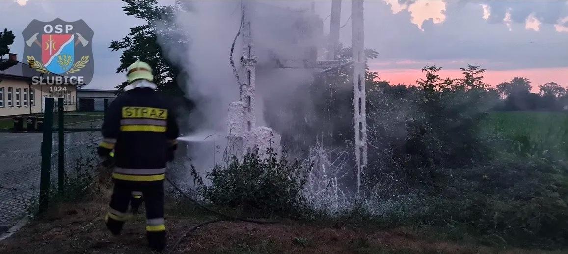 Pożar transformatora ugaszony został nad ranem