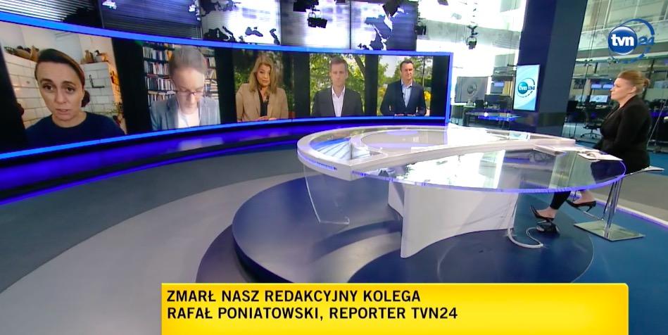 Na antenie TVN24 żegnano zmarłego Rafała Poniatowskiego