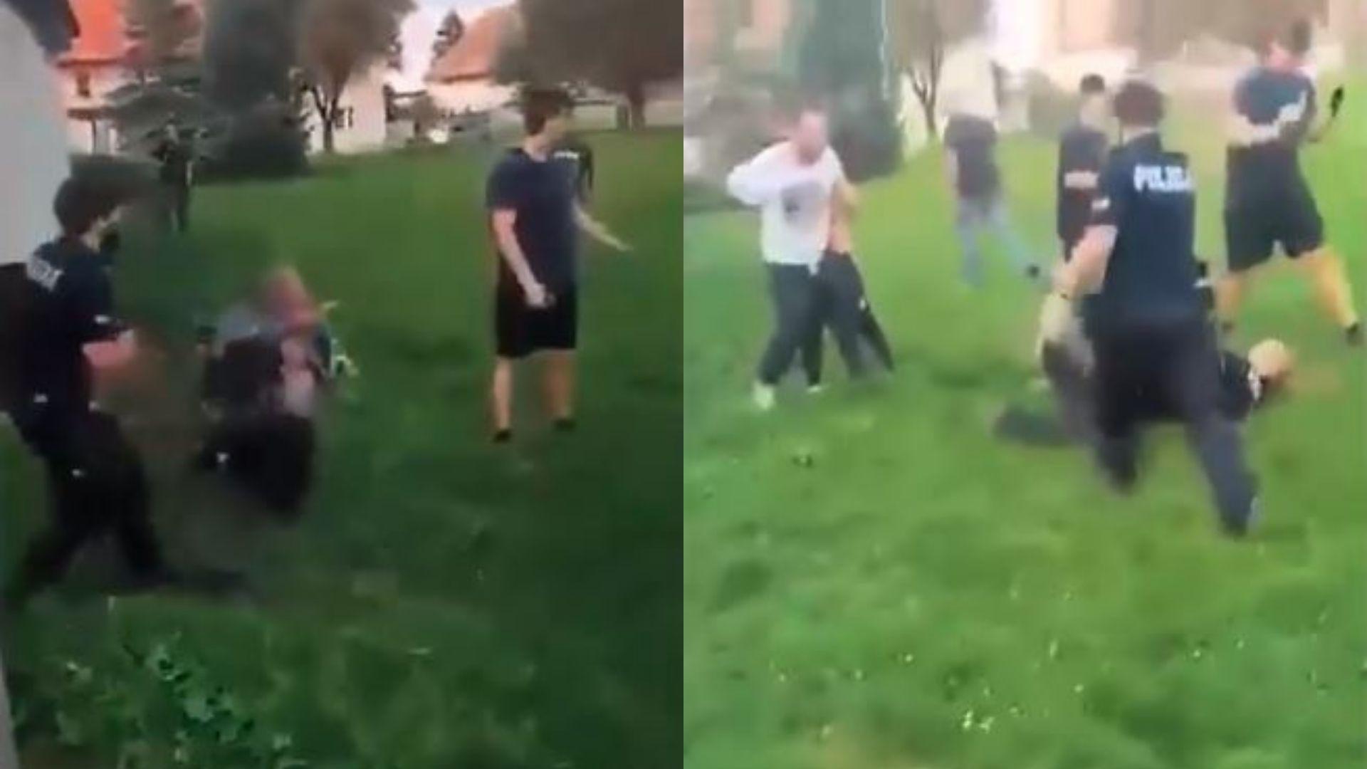 Tata i syn pobili policjantów