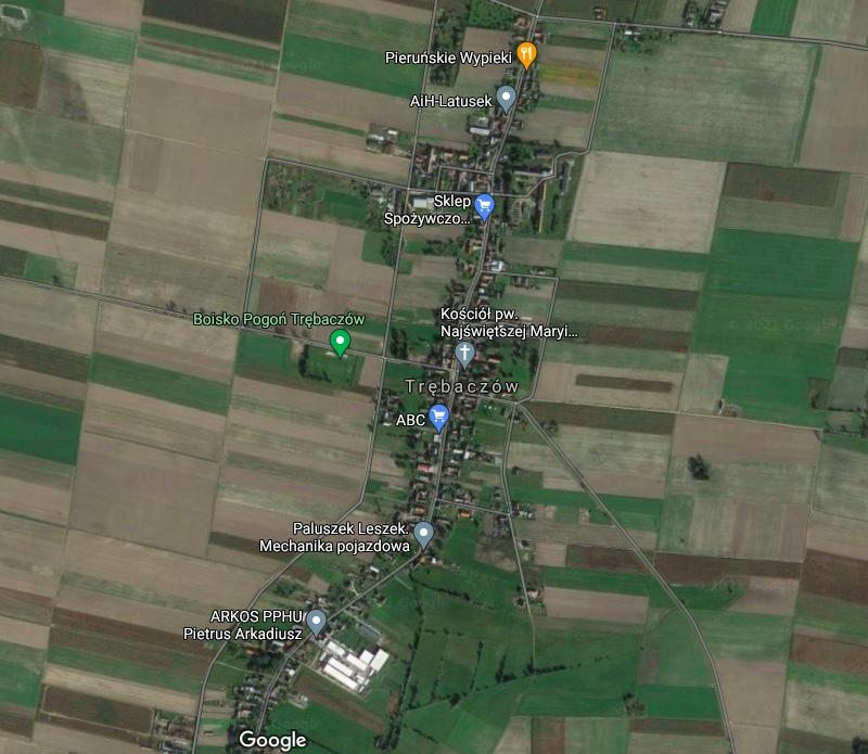 Trębaczów, mała wieś w woj. wielkopolskim w powiecie kępińskim