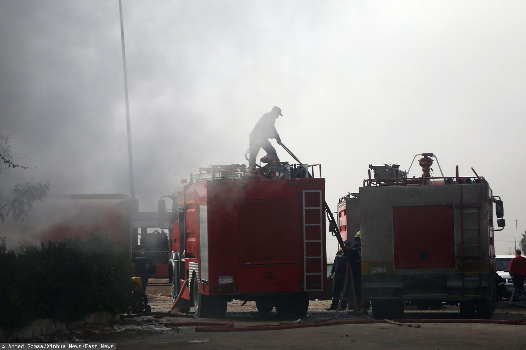 Pożar w Egipcie