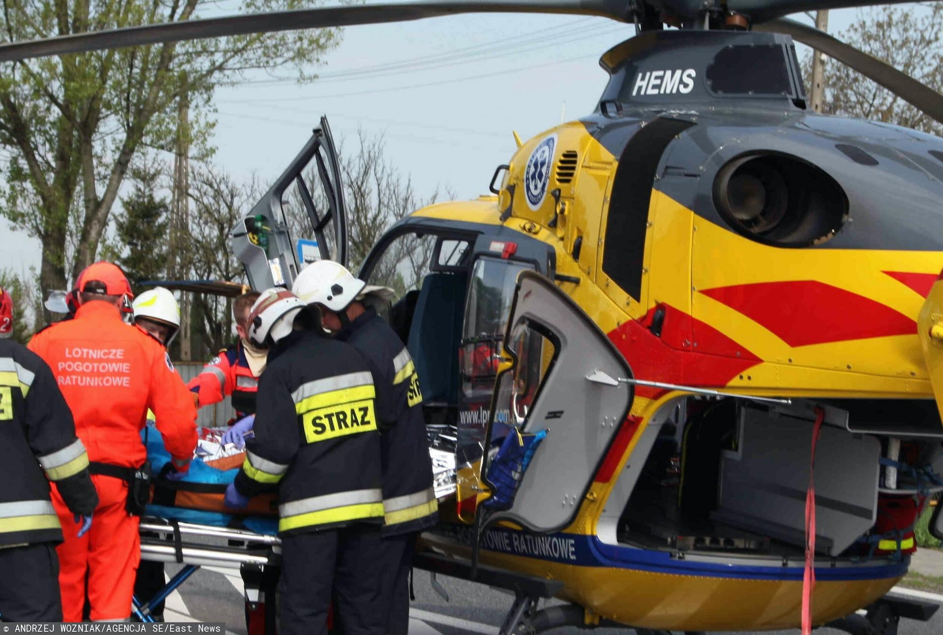 Wypadek na DW 458 z udziałem ciężarnej
