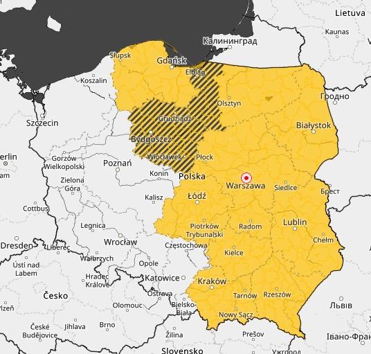 W niedzielę pogoda w Polsce nie będzie sprzyjała rekreacji na świeżym powietrzu