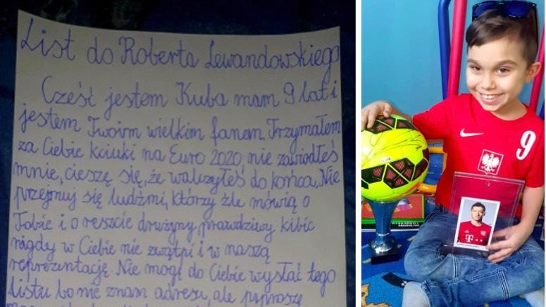 9-letni Kuba napisał do Roberta Lewandowskiego list