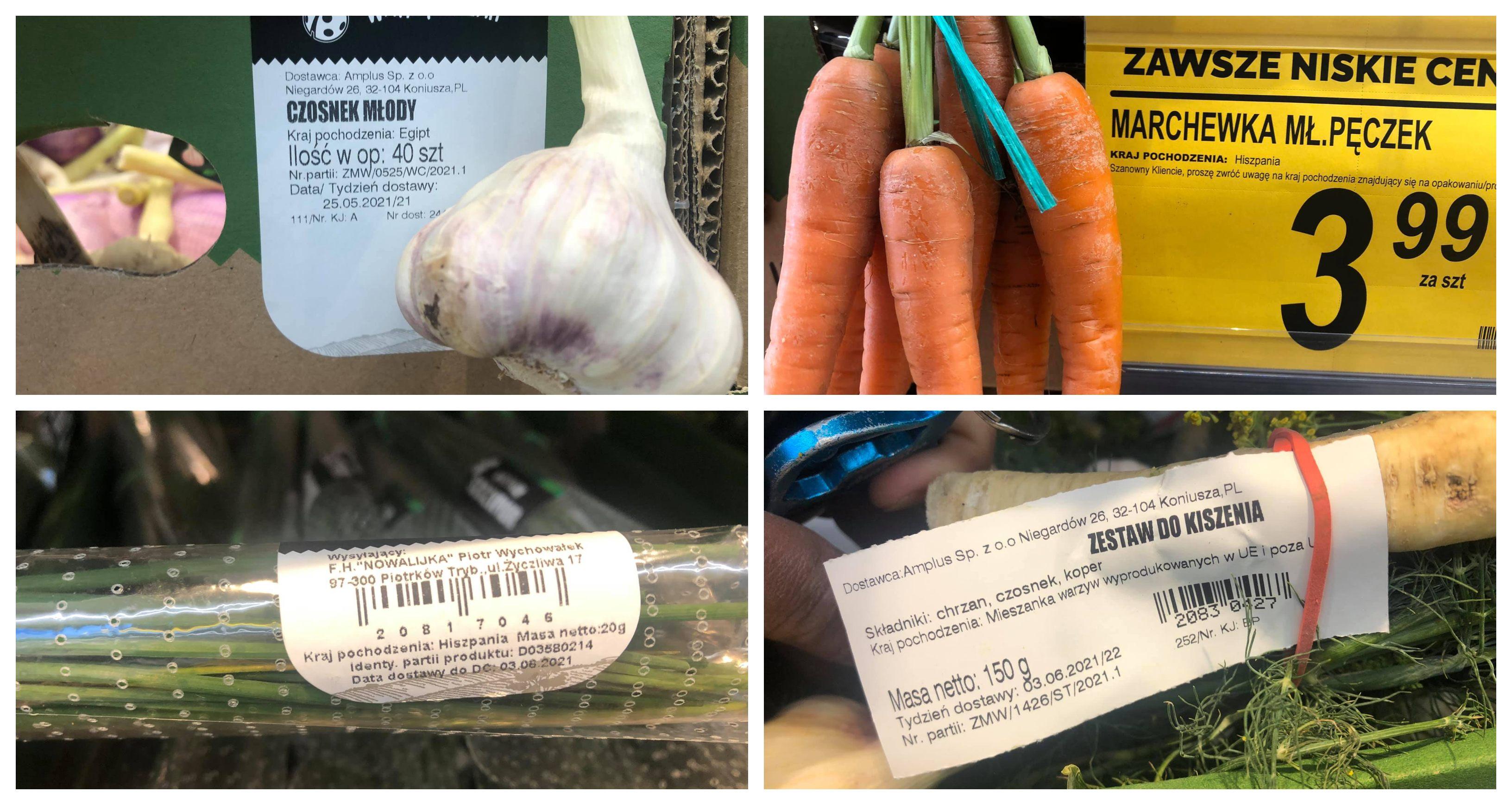Warzywa w Biedronce