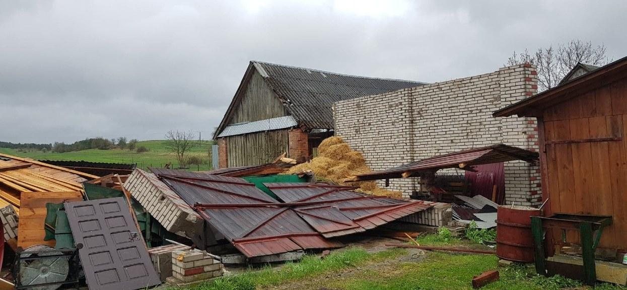 Przez gminę Tereszpol w powiecie biłgorajskim (woj. lubelskie) najprawdopodobniej przeszła trąba powietrzna. Źródło zdjęcia: Powiat Biłgorajski / Facebook.com/TradycyjnieAtrakcyjnie