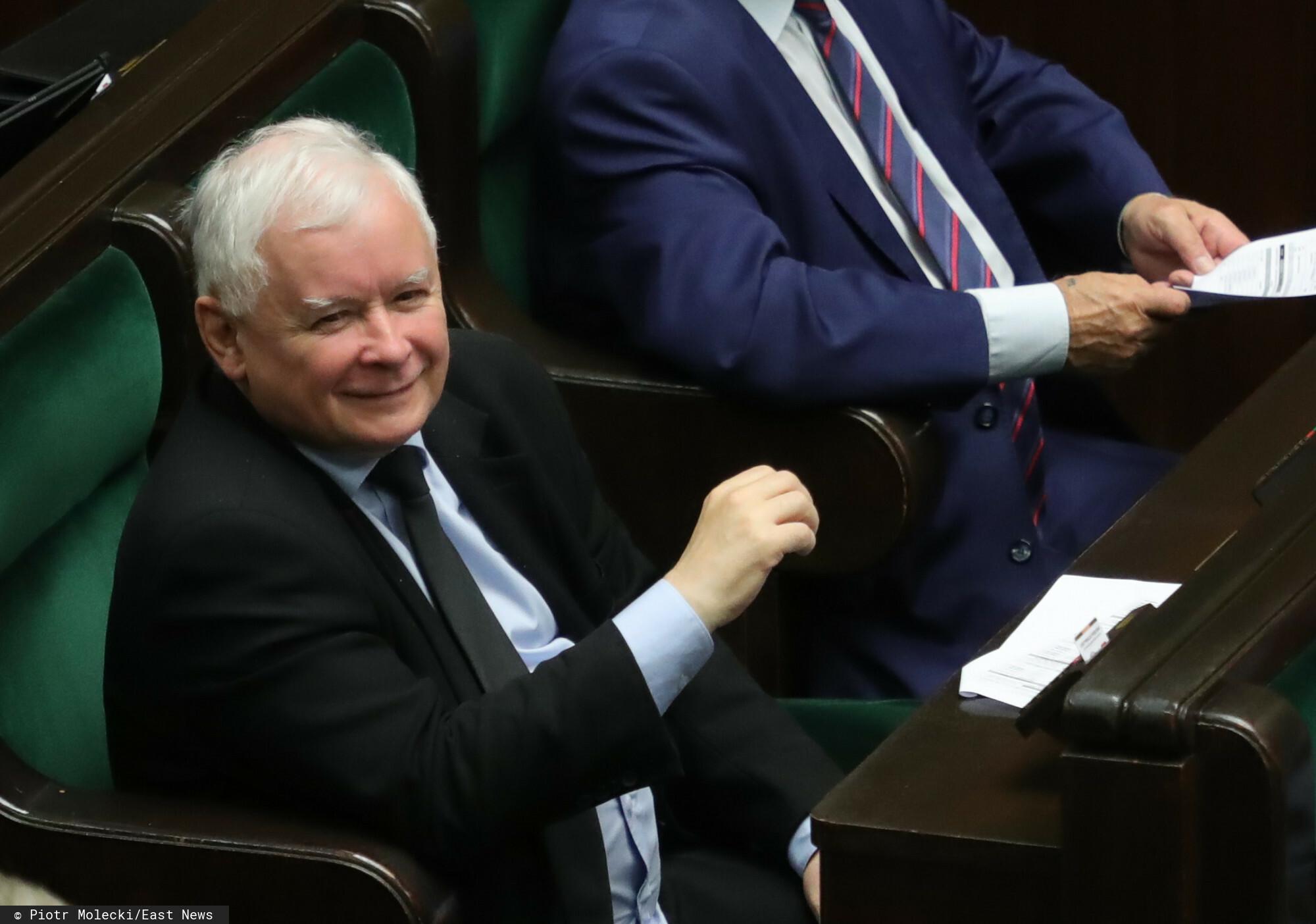 Jarosław Kaczyński w Sejmie.