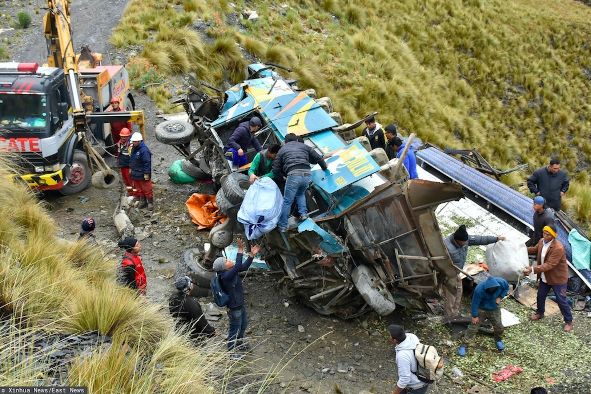 Tragiczny wypadek autobusu w Peru