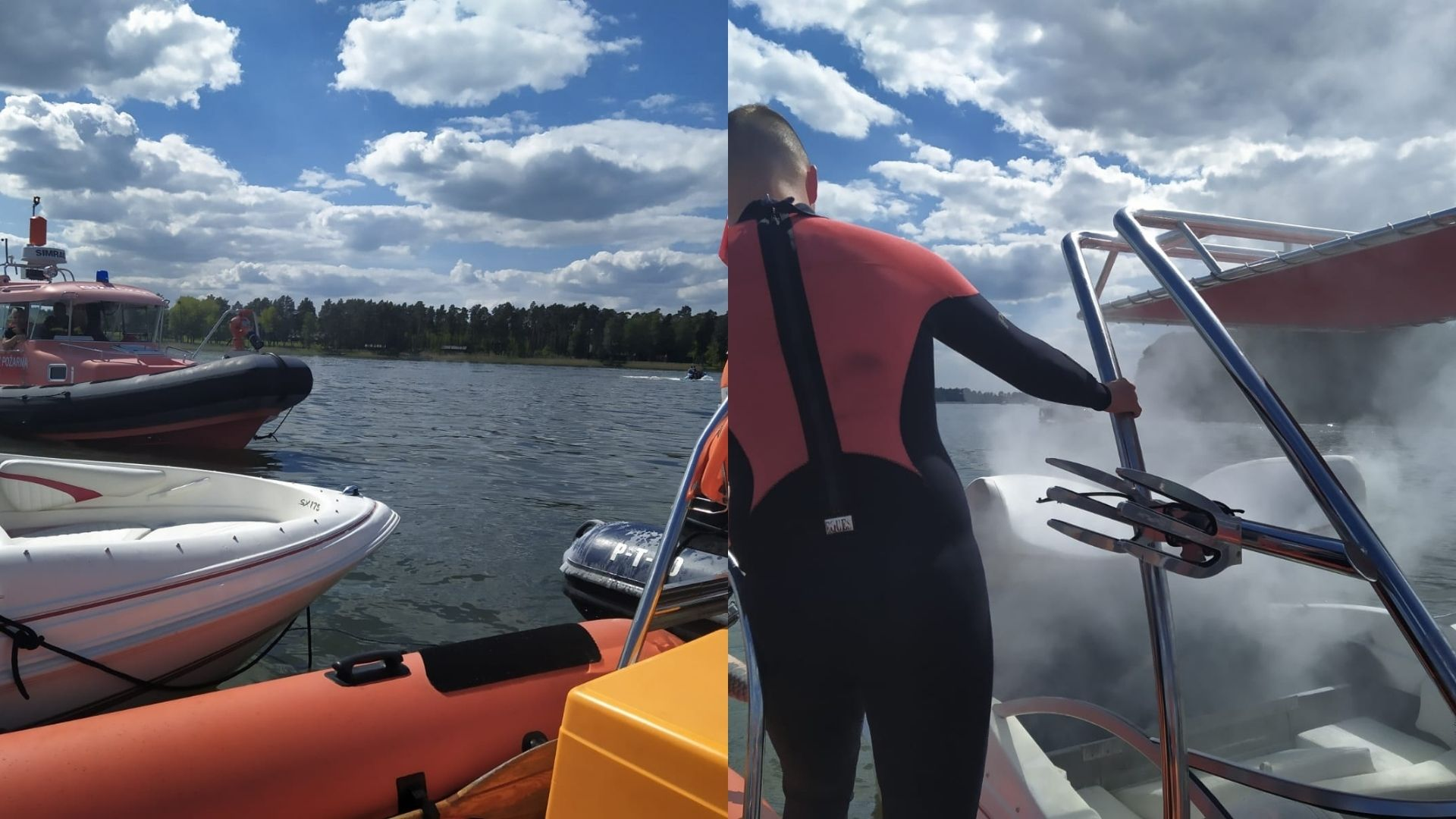 Pożar na jeziorze Jagodne