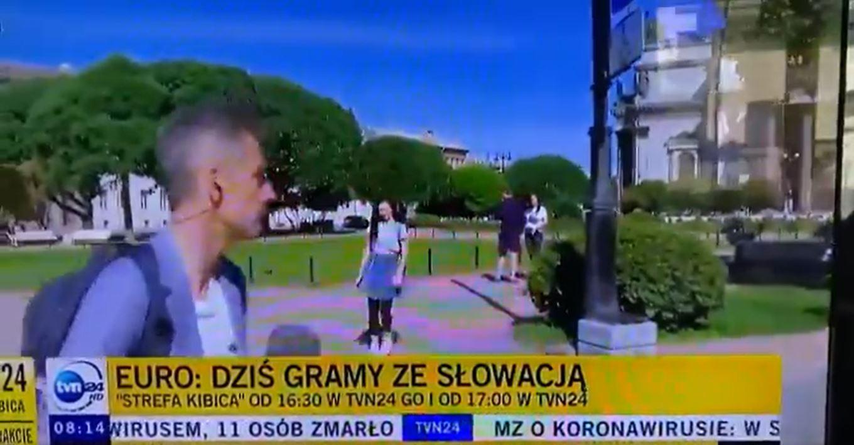dziennikarz tvn24 - wpadka