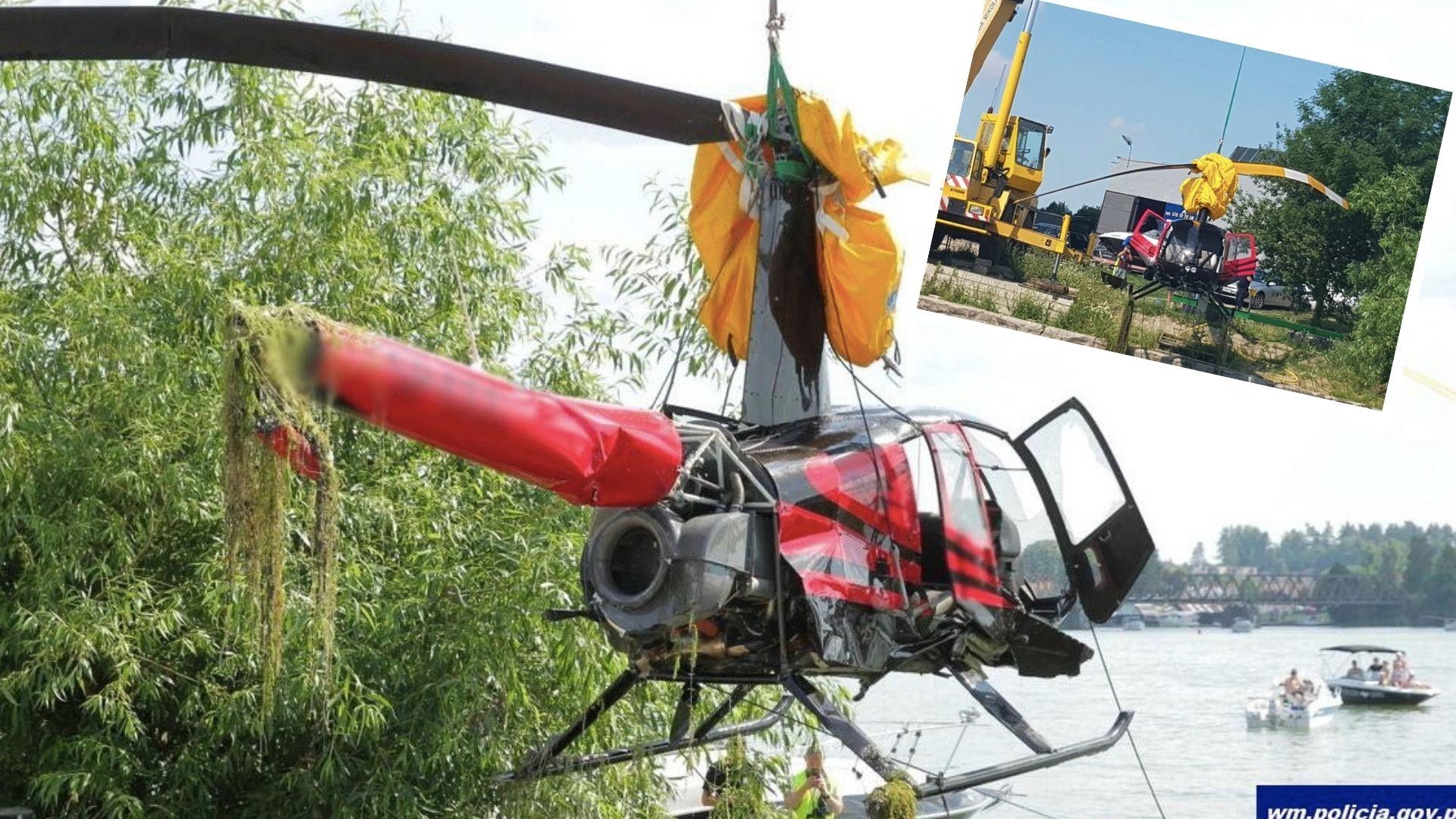 Minęła doba od wypadku śmigłowca w jeziorze Tałty w Mikołajkach
