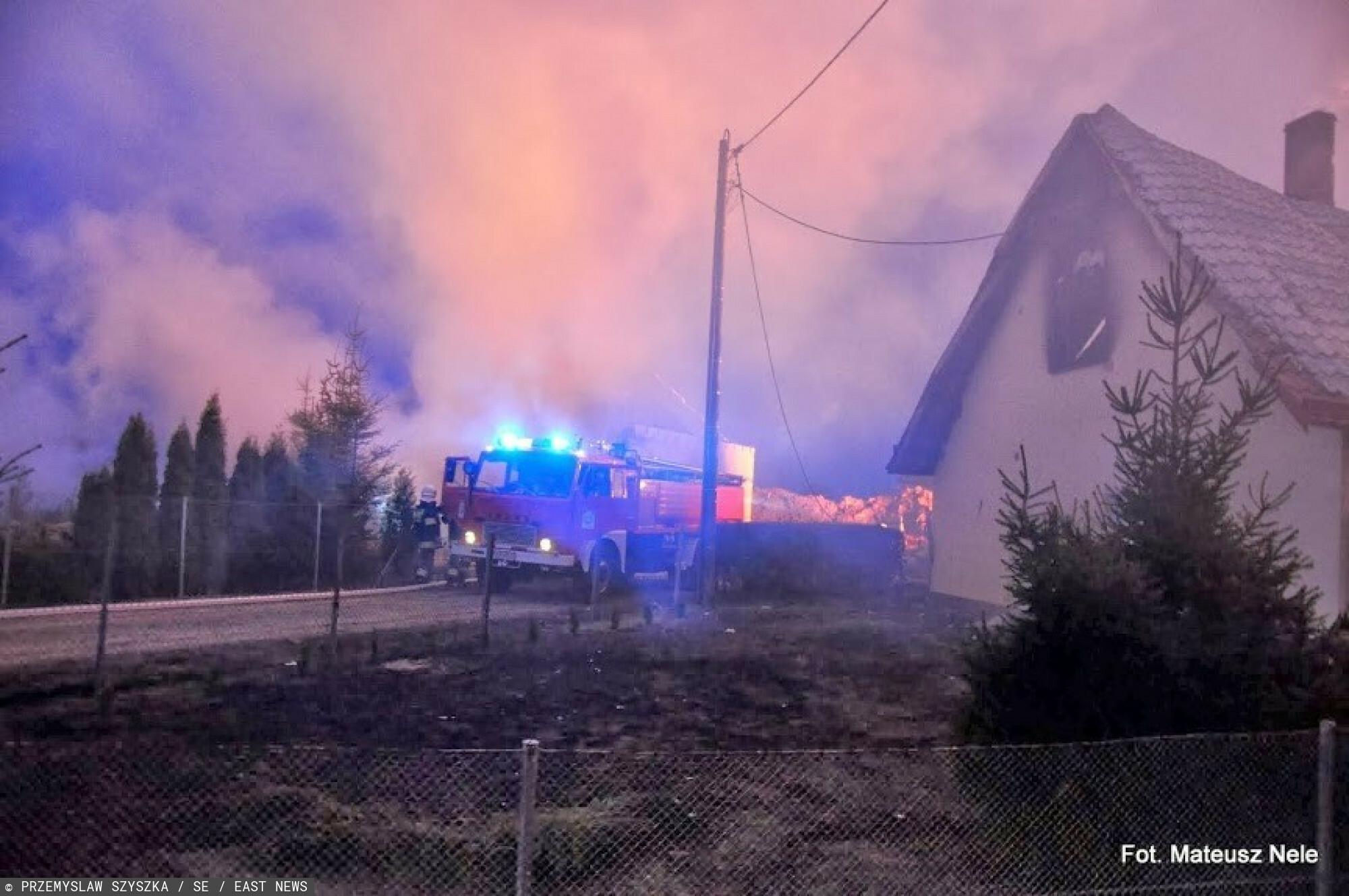 Pożar pod Opolem