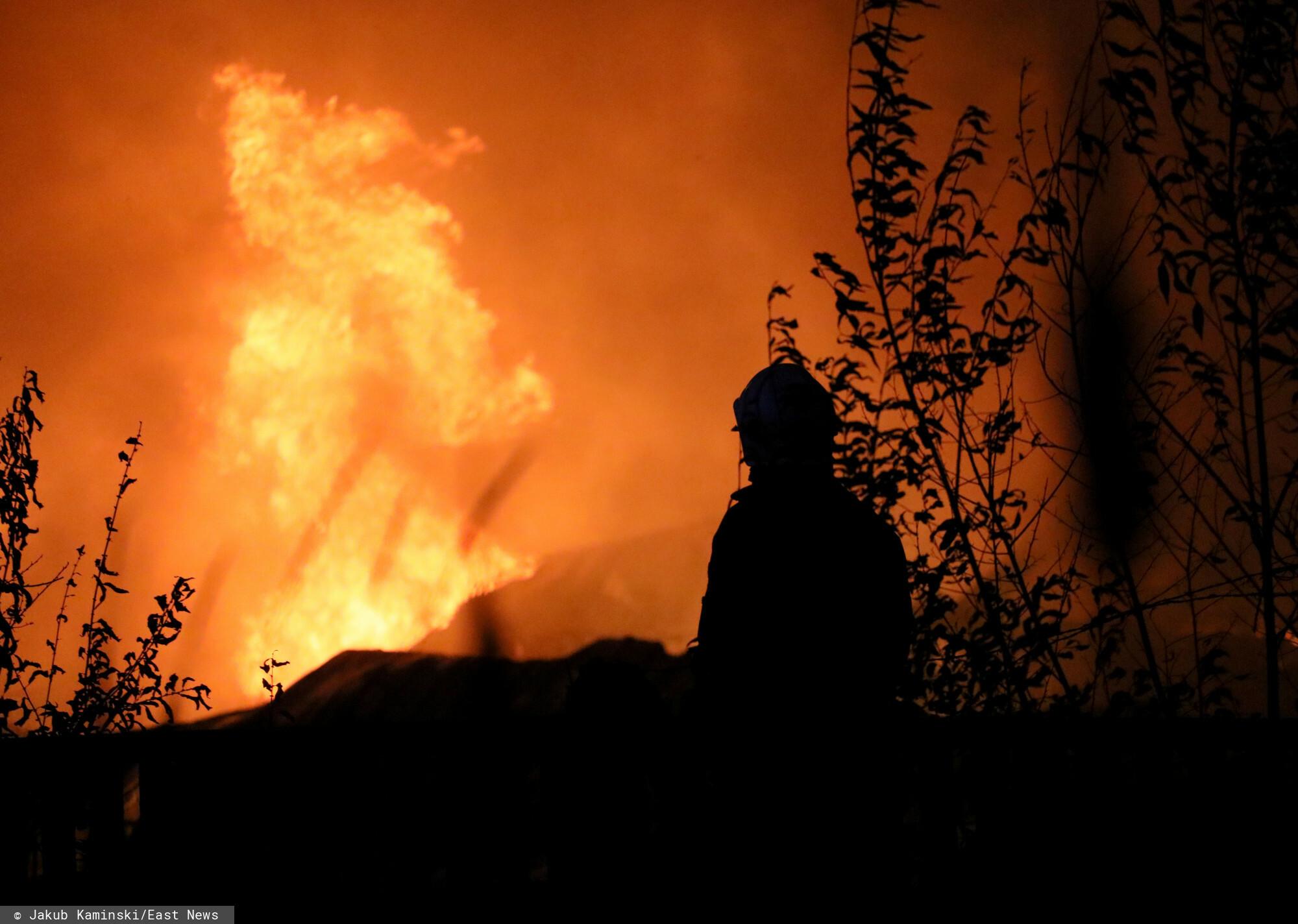 Pożar pod Piłą