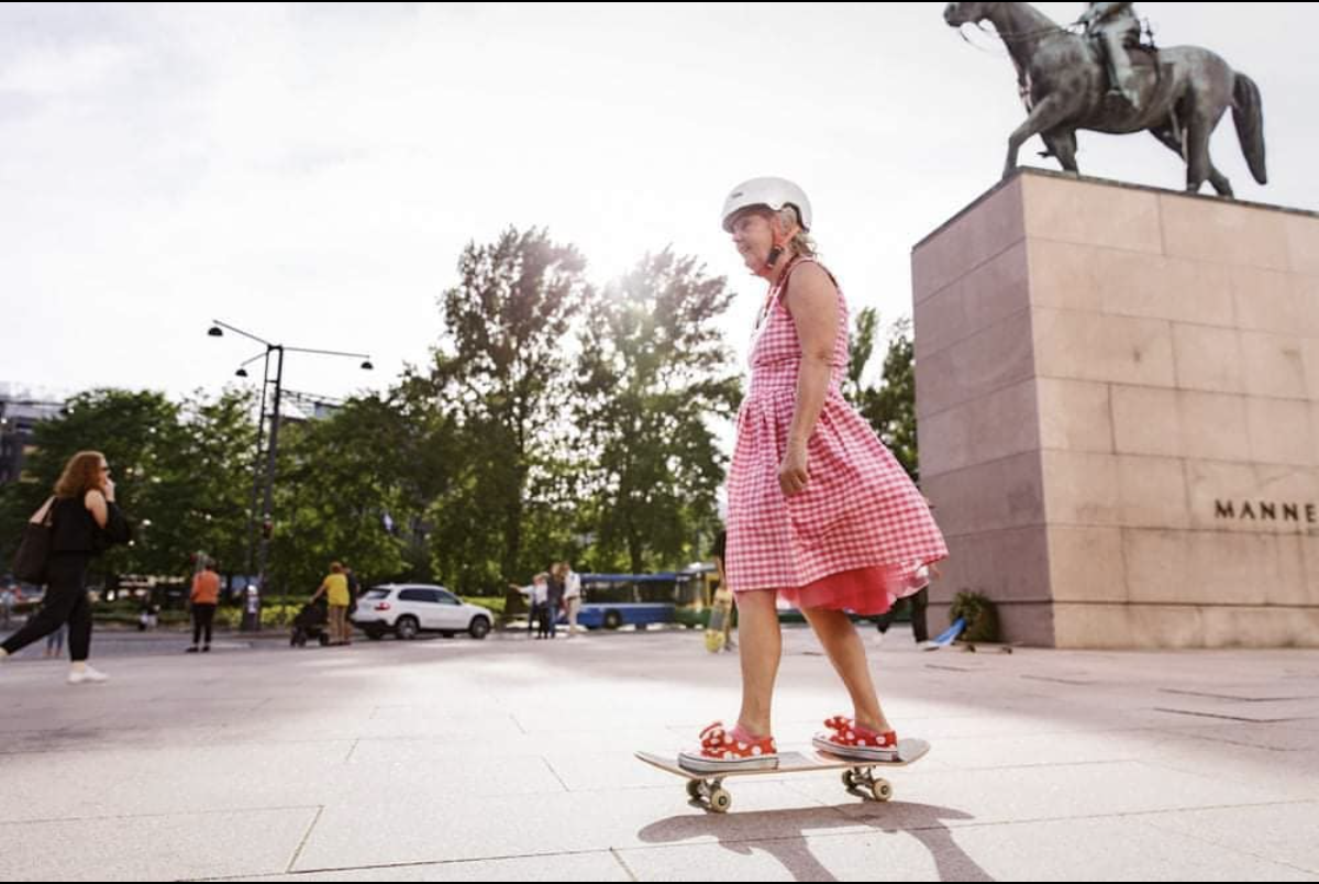 Lena Salmi to emerytowana skejterka z Finlandii.