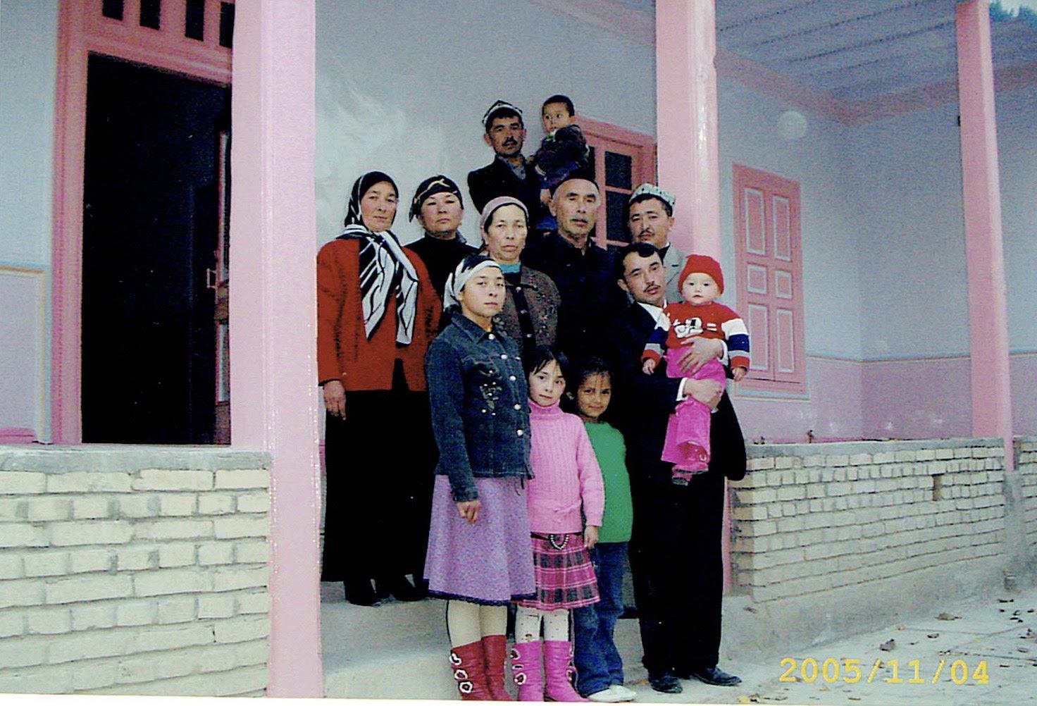 Abdurehim Gheni z rodziną