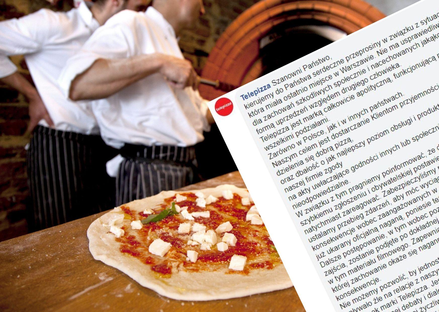 Telepizza tłumaczy się z zachowania pracownika