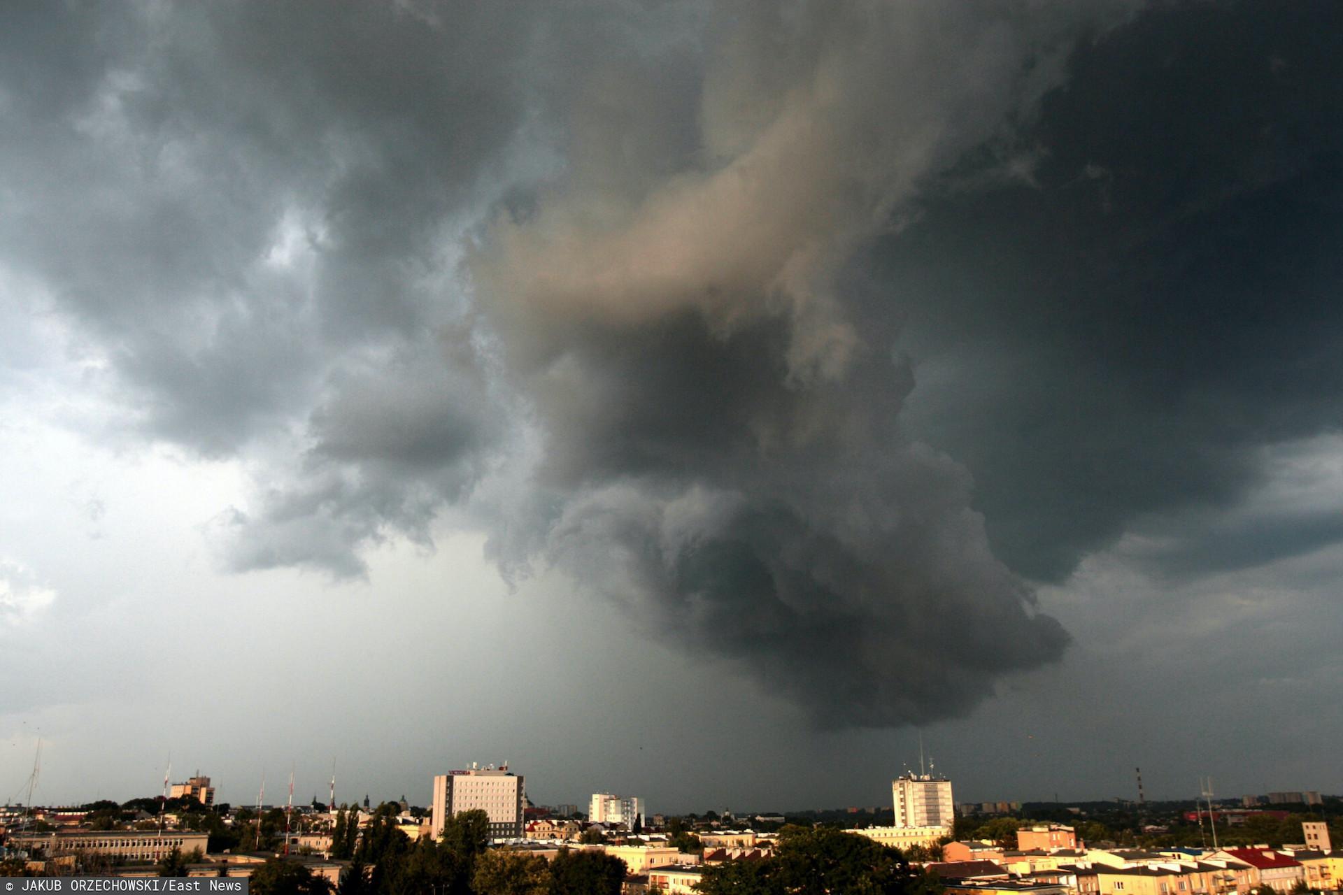 W czwartek nad Krakowem przeszła silna burza