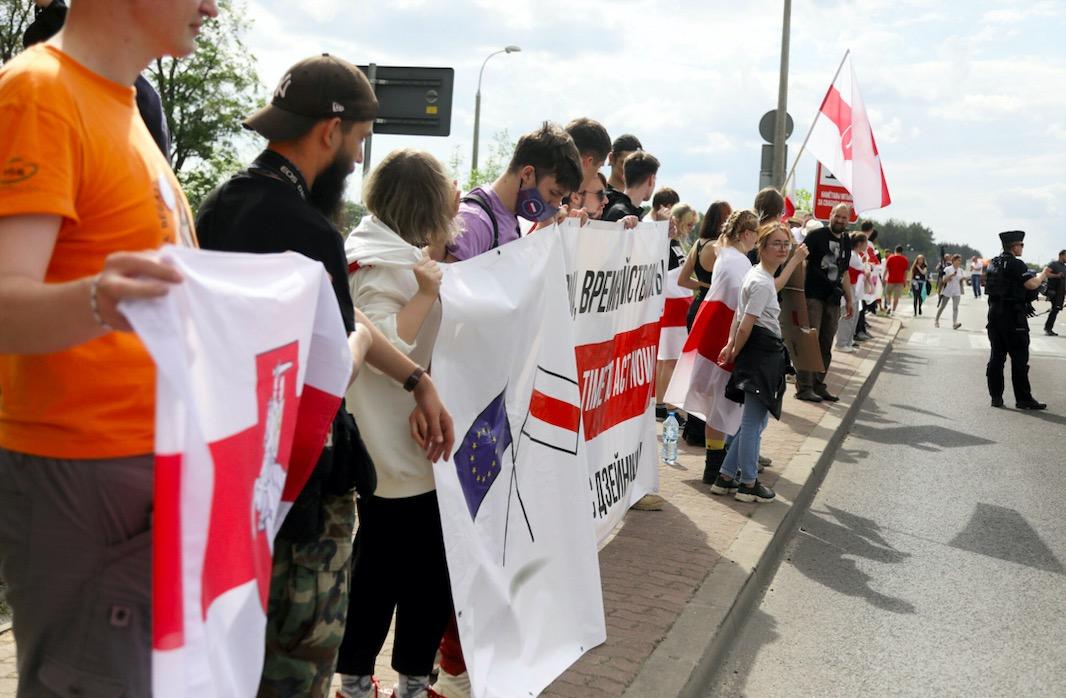 W Bobrownikach przy granicy polsko-białoruskiej odbył się protest