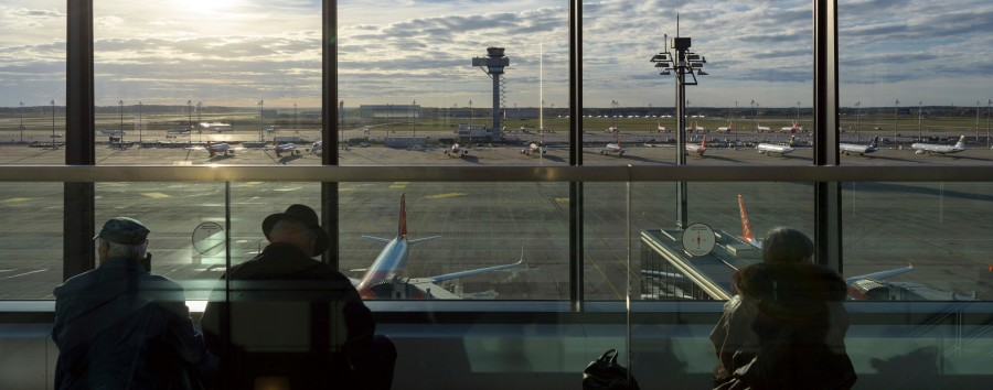 Flugverkehr in Berlin liegt 90 Prozent unter Vorjahresniveau