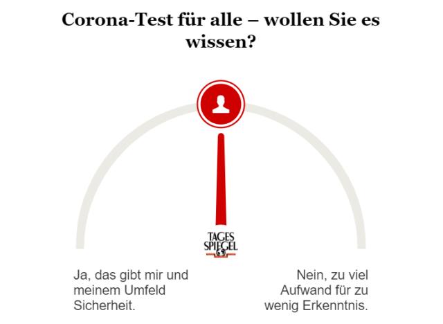 Umfrage zum Corona-Test für alle