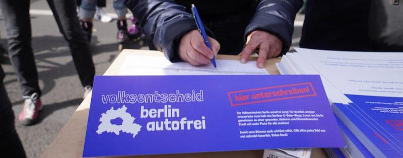 """Das Volksbegehren """"Autofreie Stadt"""" gestartet"""